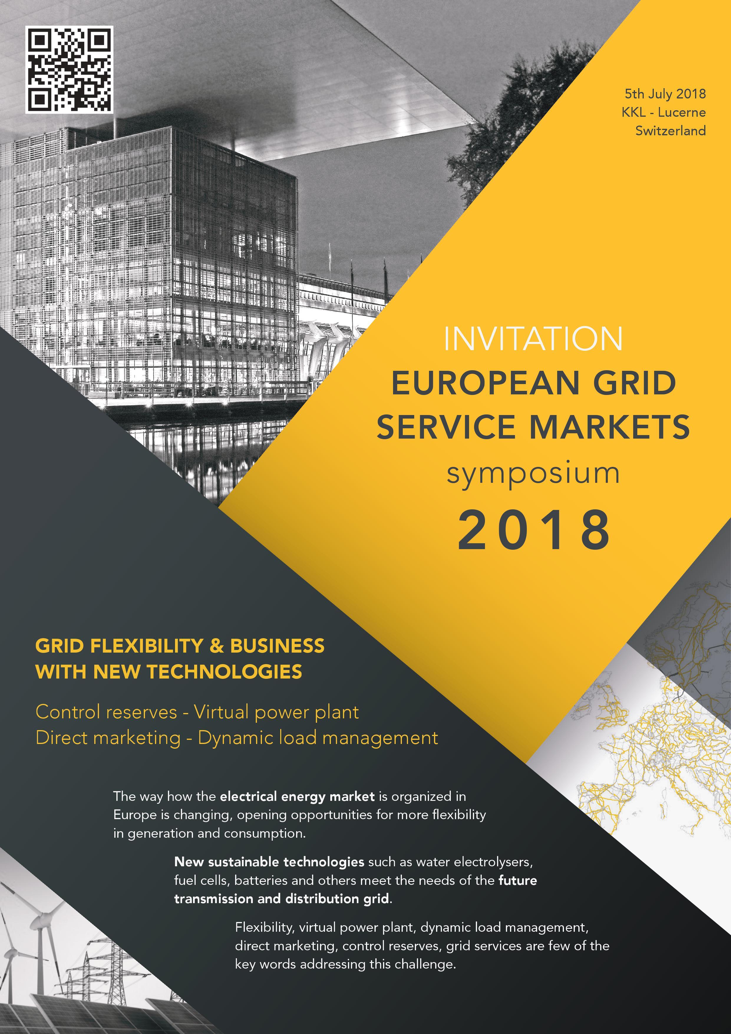 Invitation Programme Details European Grid Service Markets Symposium